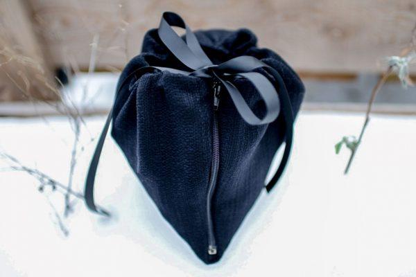 sac boucle poncho noir
